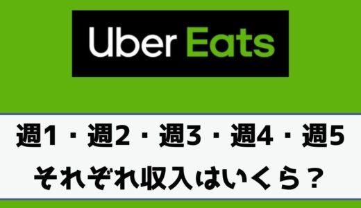 Uber Eats(ウーバーイーツ)の収入を「週1・週2・週3・週4・週5」それぞれいくら稼げるのか解説!