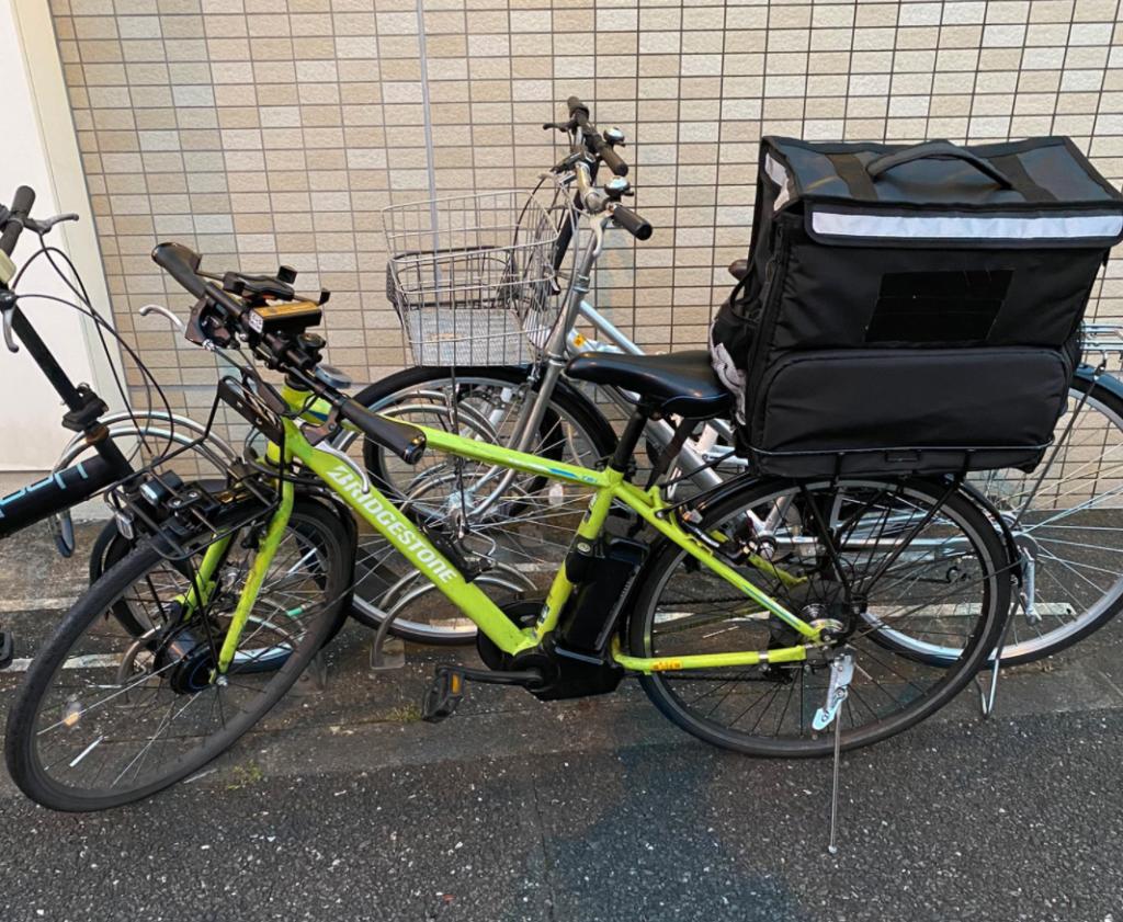 ウーバーイーツ配達自転車